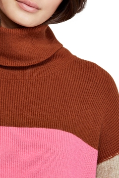 Free People Colorblock Turtleneck Sweater - Alternate List Image
