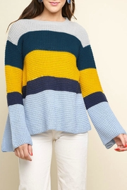 Umgee USA Colorblock Waffle Sweater - Product Mini Image