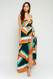 Olivaceous Colorblock Wrap Maxi - Product Mini Image