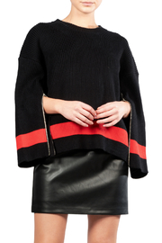 Elan Colorblock Zipper Sweater - Front cropped