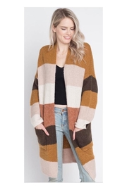 Polly & Esther Colorblocked Cardi Wrap - Product Mini Image