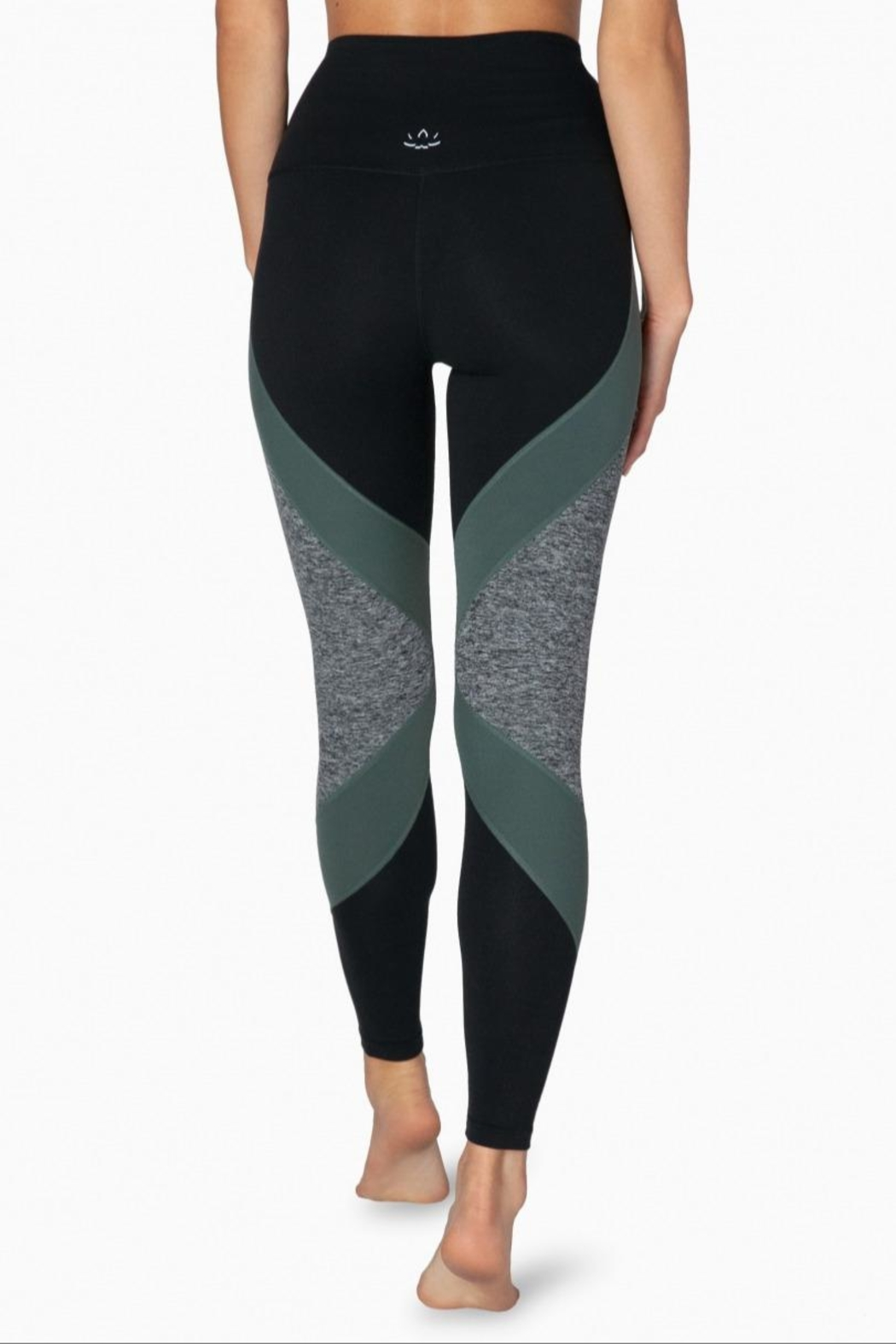 Beyond Yoga Colorblocked Hw Legging - Back Cropped Image