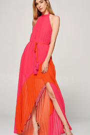 R+D emporium  Colorblocked Pleated Maxi - Product Mini Image