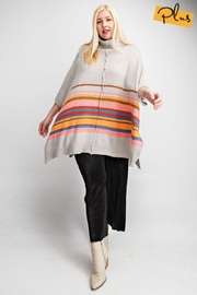Easel  Colorblocked Plus Poncho - Product Mini Image