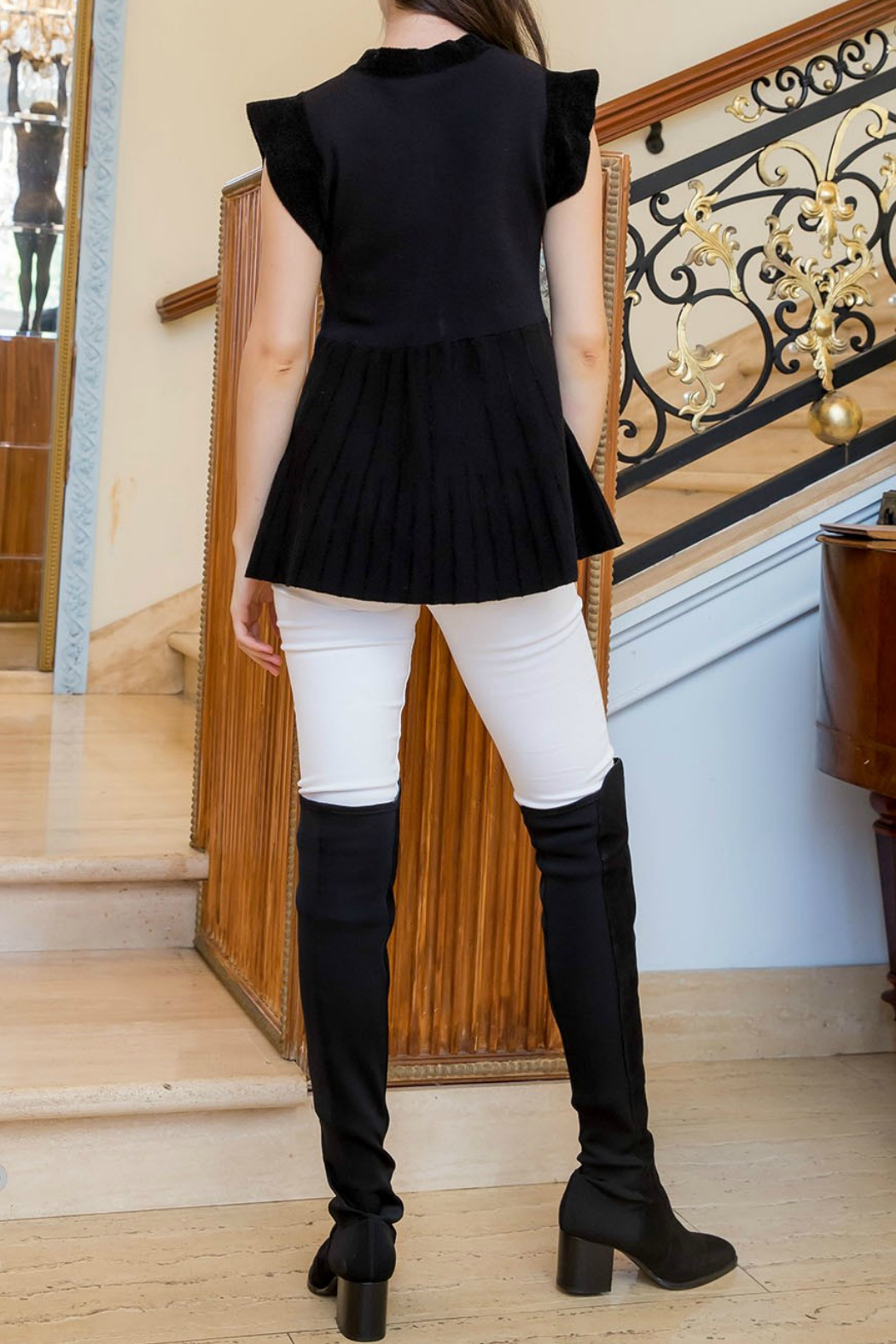 Thml Colorblocked Rib Sweater - Front Full Image