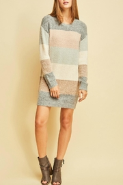 Entro Colorblocked Sweater Dress - Product Mini Image