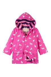 Hatley Colorchanging Unicorn Raincoat - Front cropped
