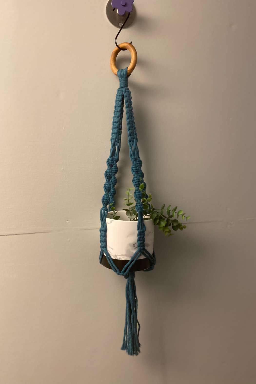 Creative Cords Colored macrame plant holder - Front Cropped Image