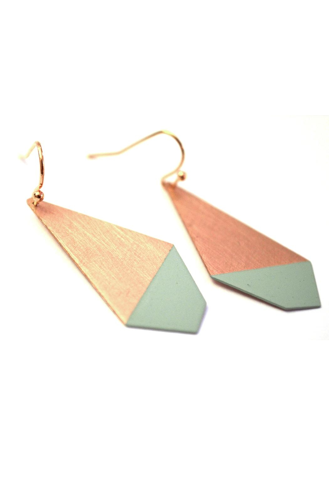 Ruby on Tuesday Colored Polygon Earrings - Main Image