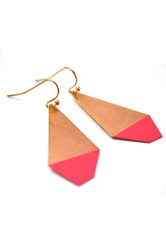 Ruby on Tuesday Colored Polygon Earrings - Alternate List Image