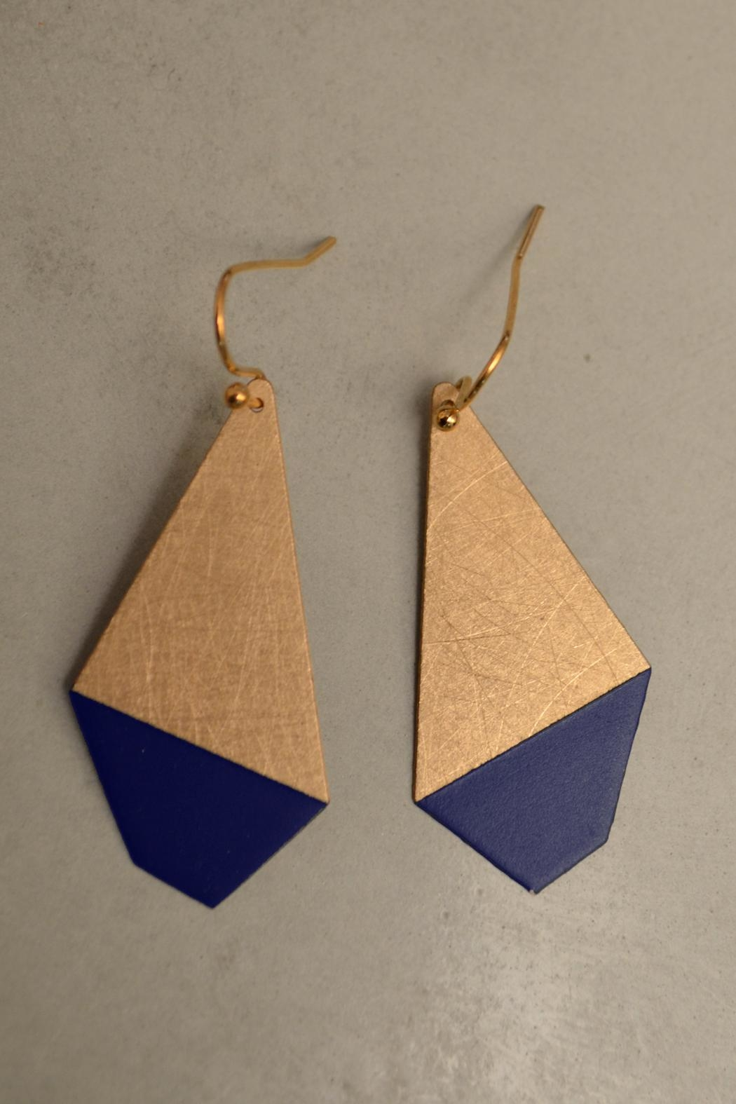 Ruby on Tuesday Colored Polygon Earrings - Front Cropped Image