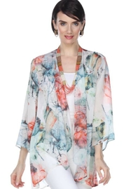 Aris A Colorful Abstract Cardigan - Front cropped