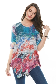 Inoah Colorful Abstract Top - Product Mini Image
