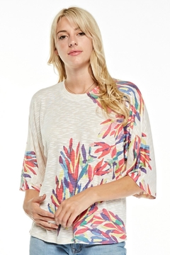 Inoah Colorful Anemone Top - Alternate List Image