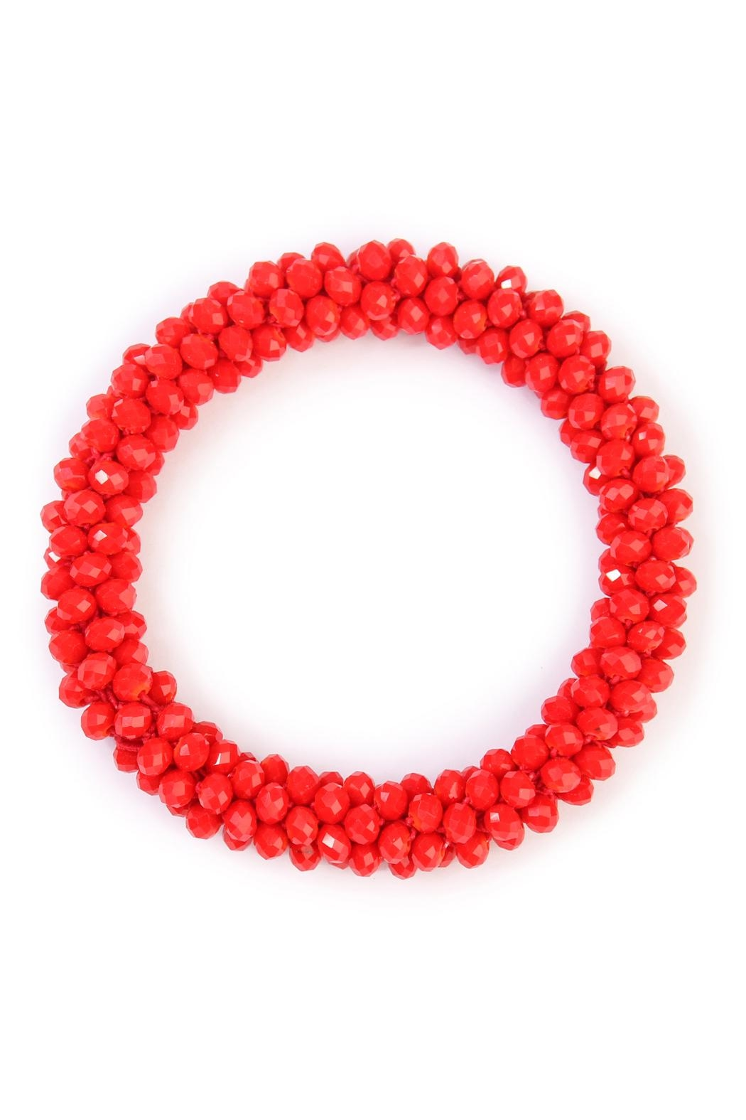 Riah Fashion Colorful Beads Bracelet - Front Cropped Image