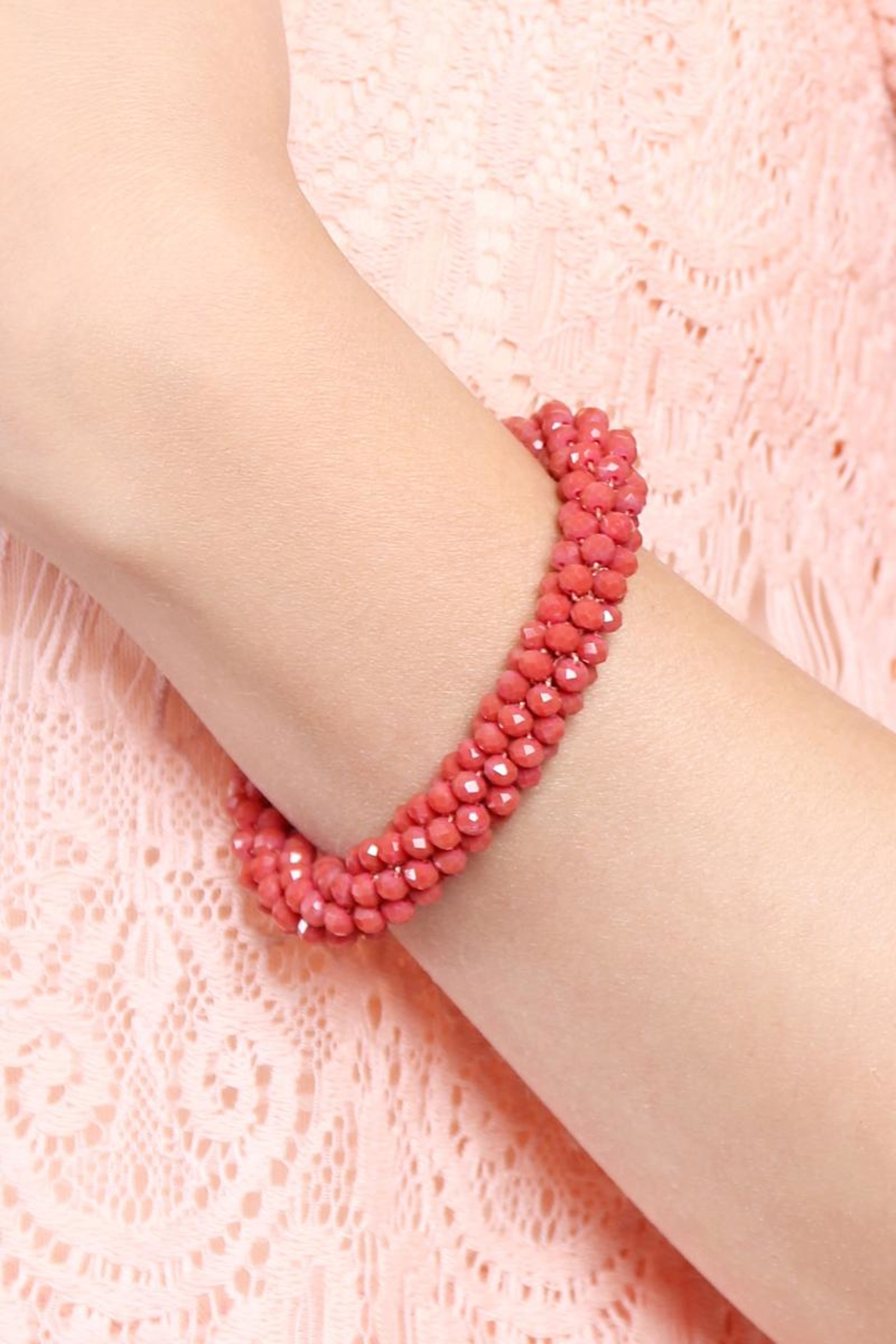Riah Fashion Colorful Beads Bracelet - Front Full Image