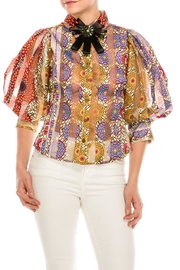 cq by cq Colorful Brooch Blouse - Product Mini Image