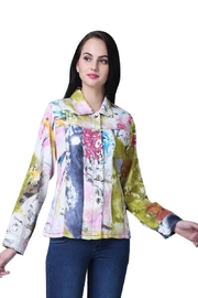 Parsley & Sage Colorful Button-Up Jacket - Product Mini Image