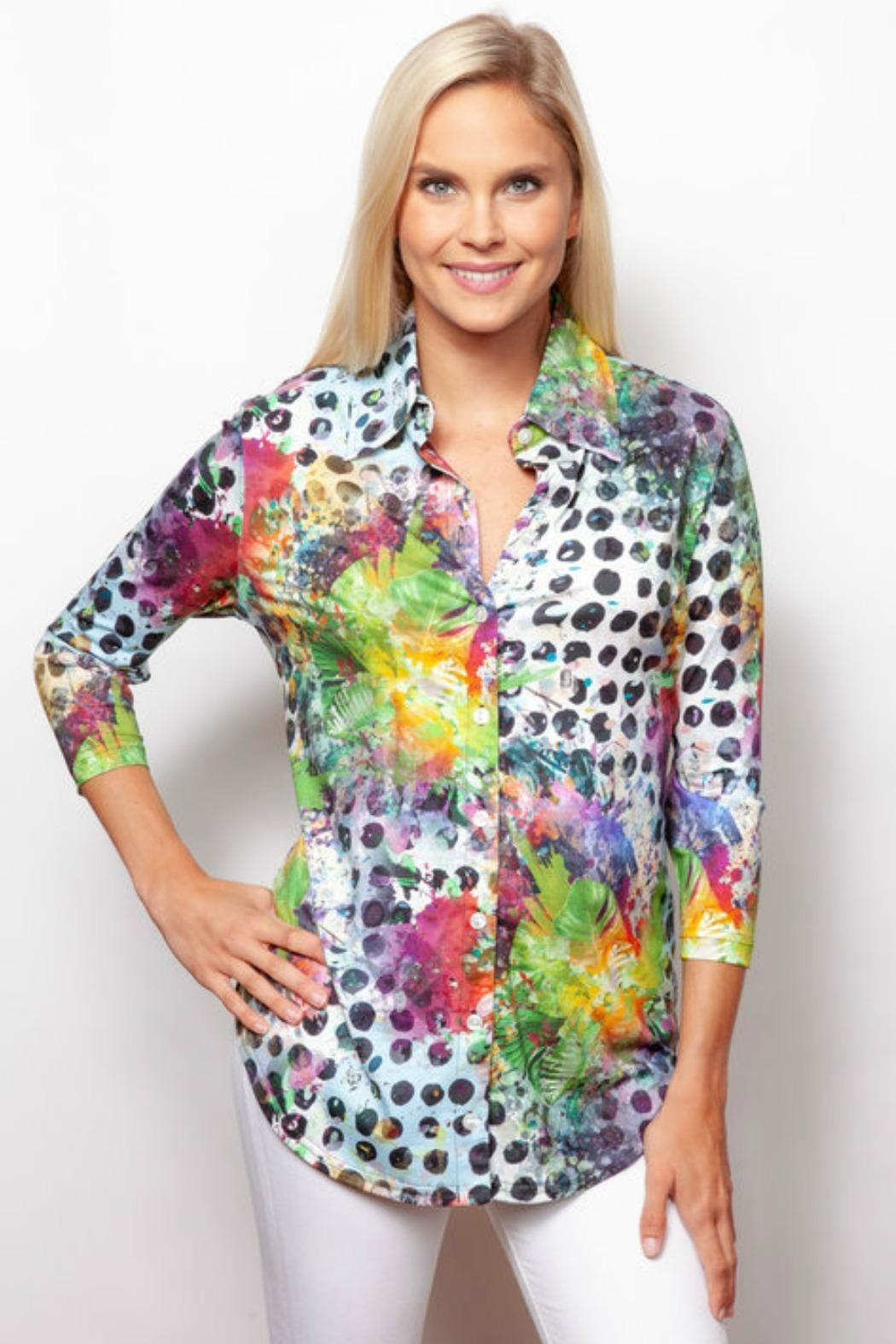Sno Skins Colorful Button-Up Shirt - Main Image