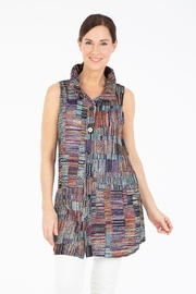Damee Colorful Button-Up Vest - Product Mini Image