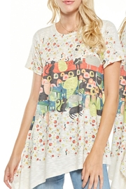Inoah Colorful Cat Tunic - Front cropped
