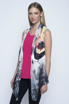Picadilly Colorful Chiffon Vest - Alternate List Image