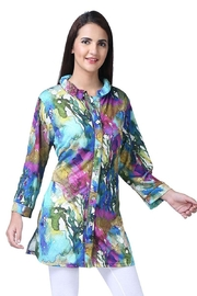 Parsley & Sage Colorful Crinkle Tunic - Product Mini Image