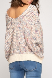 She + Sky Colorful & Cute Sweater - Front full body