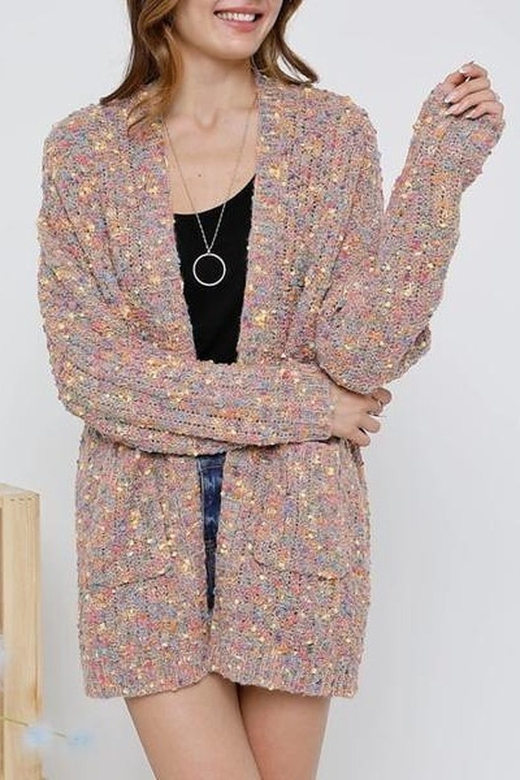 Adora Colorful Cutie Cardigan - Front Cropped Image