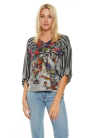Inoah Colorful Dolman Top - Front cropped