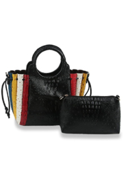Handbag Express Colorful Embossed Tote Set - Front cropped