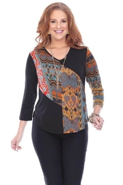 Parsley & Sage Colorful Ethnic Top - Product Mini Image