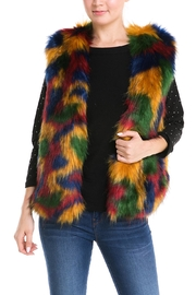 Jealous Tomato Colorful Fur Vest - Product Mini Image