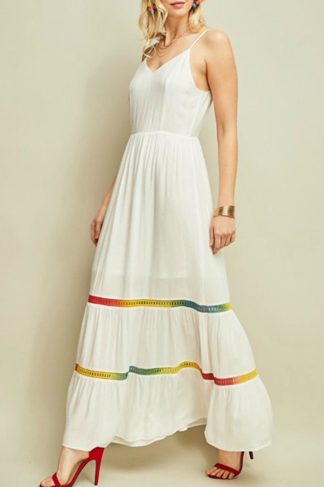 Entro Colorful Hem Maxi - Front Cropped Image