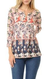 Cubism Colorful Henley Top - Product Mini Image