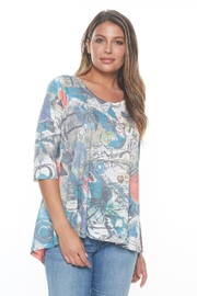 Inoah Colorful Hi-Lo Tunic - Front cropped