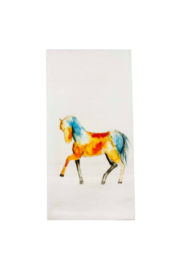 The Birds Nest COLORFUL HORSE DISHTOWEL - Front cropped