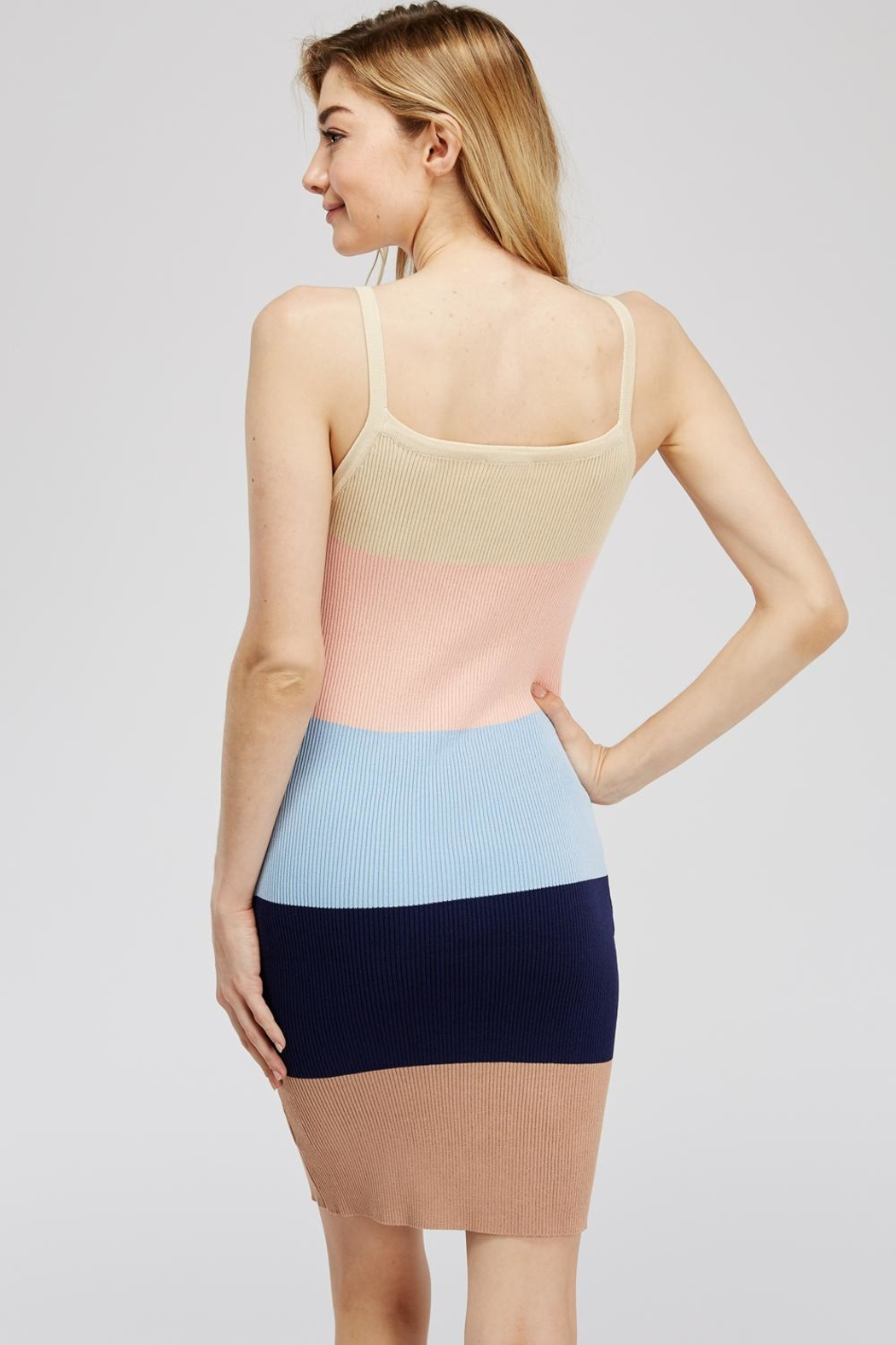 storia Colorful Knit Dress - Side Cropped Image