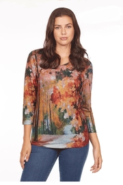 French Dressing Jeans Colorful Knit Top - Product Mini Image