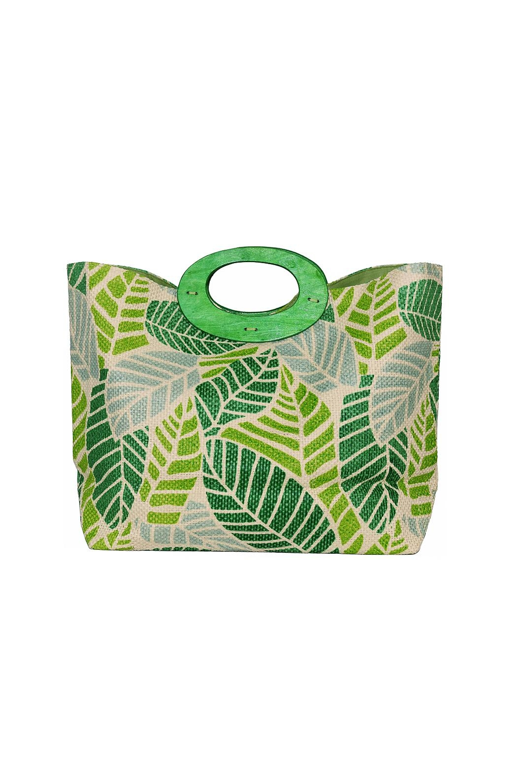 Romy M.  Colorful Leaf Tote - Front Cropped Image