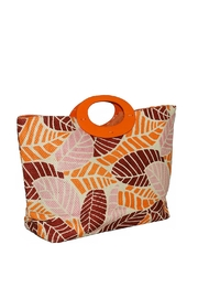 Romy M.  Colorful Leaf Tote - Front full body