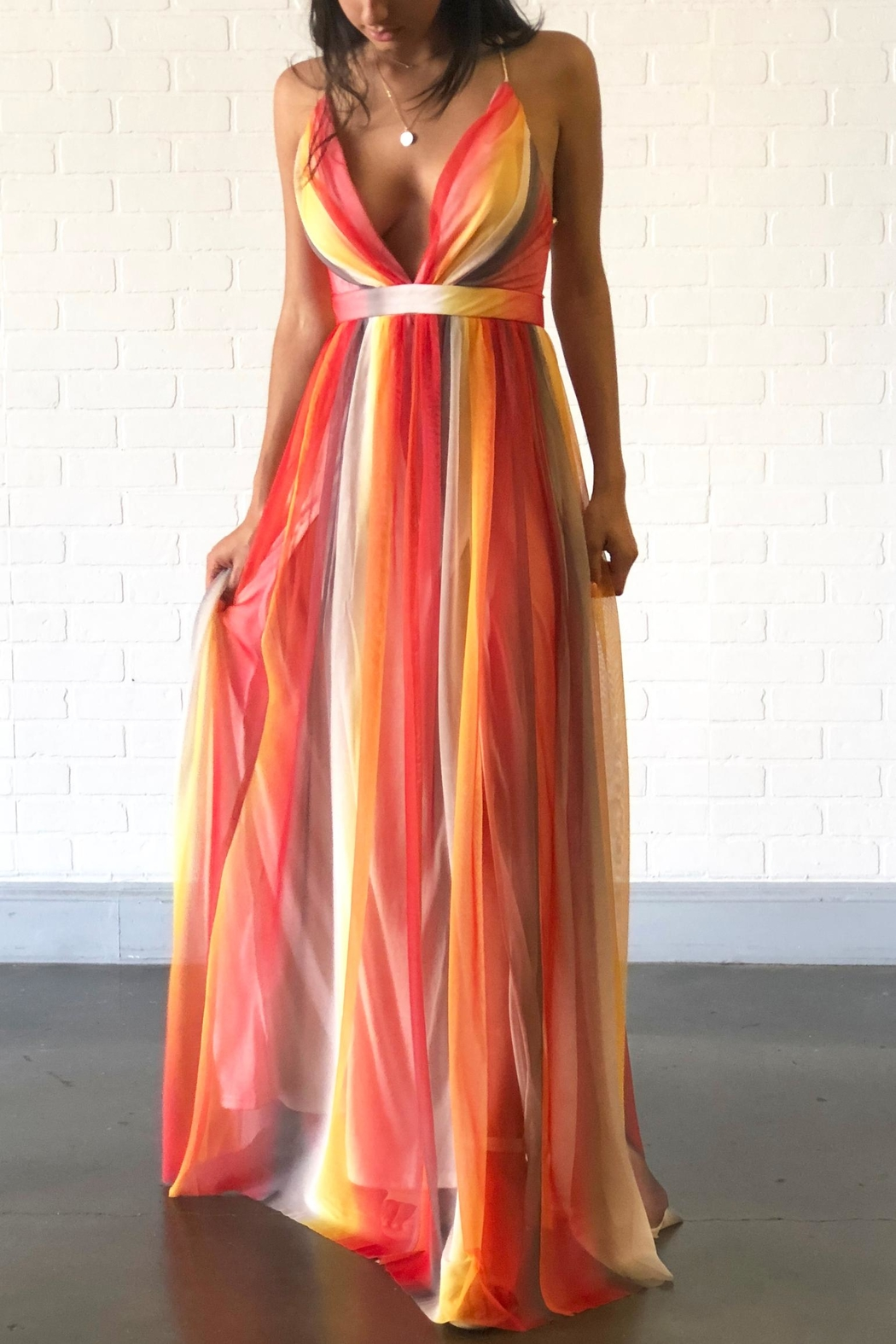 outlet boutique good out x great prices Xtaren Colorful Maxi Dress from New York by Dor L'Dor — Shoptiques