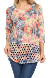 Cubism Colorful Open-Weave Tunic - Product Mini Image
