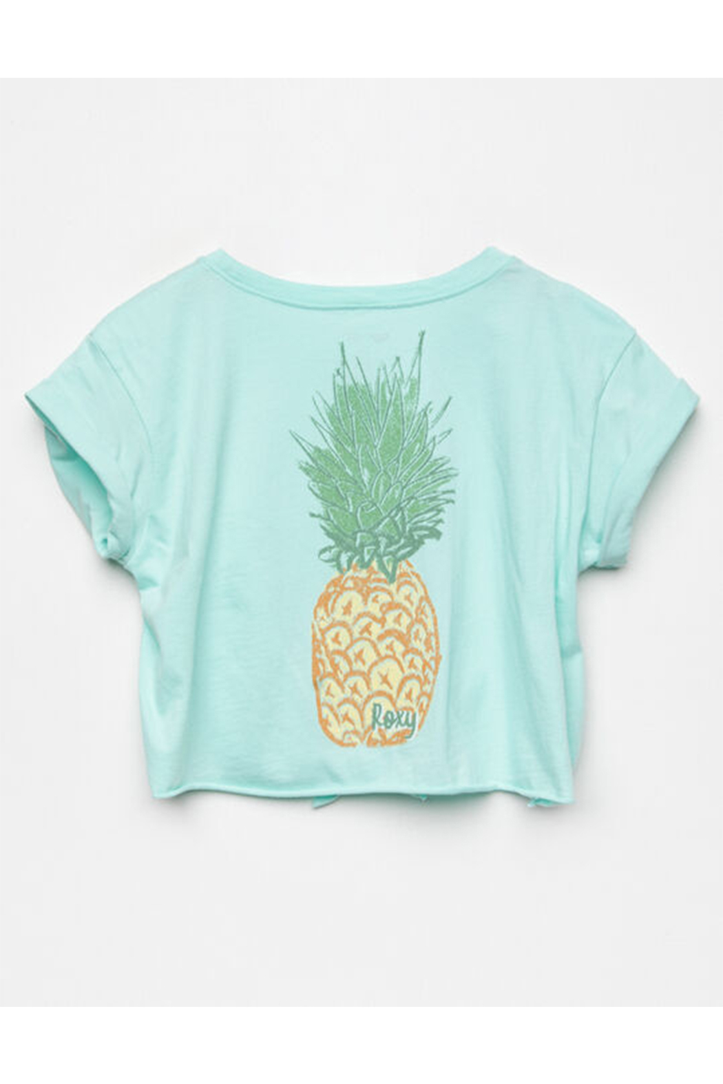 Roxy  Colorful Pineapple Tie-Front Tee - Front Full Image
