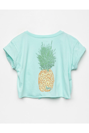 Roxy  Colorful Pineapple Tie-Front Tee - Front full body
