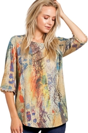 Katina Marie Colorful Raglan Top - Product Mini Image