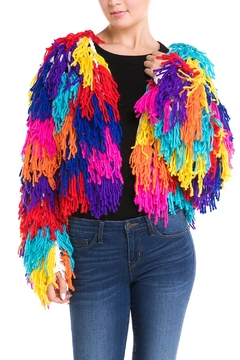 Hot & Delicious Colorful Shag Sweater - Product List Image