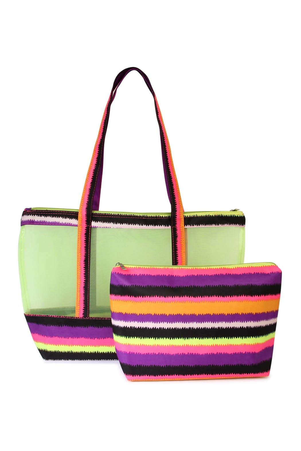 Riah Fashion Colorful-Shoulder-Bag And Pouch-Set - Front Cropped Image