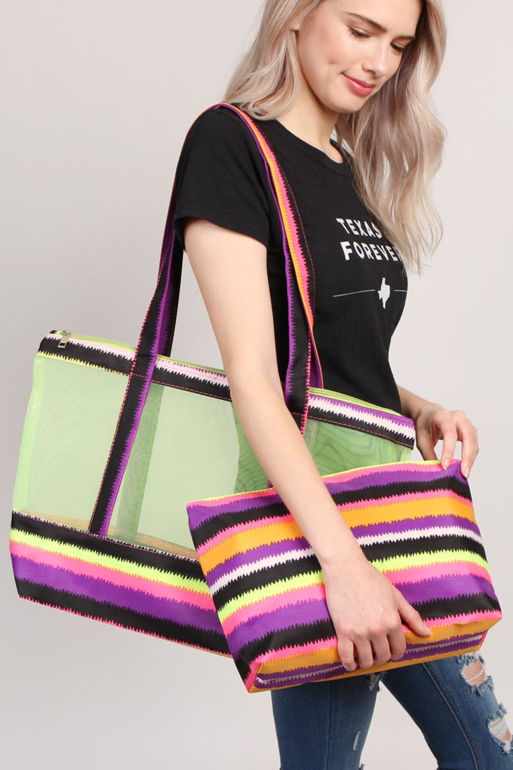Riah Fashion Colorful-Shoulder-Bag And Pouch-Set - Front Full Image