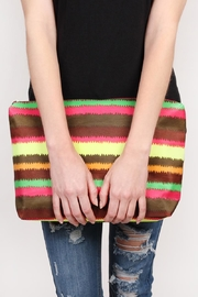 Riah Fashion Colorful-Shoulder-Bag And Pouch-Set - Front full body